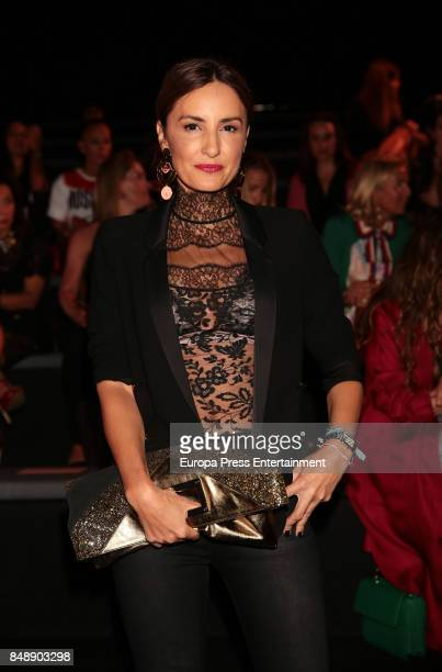Mayte de la Iglesia is seen during MercedesBenz Fashion Week Madrid Spring/Summer 2018 at Ifema on September 15 2017 in Madrid Spain