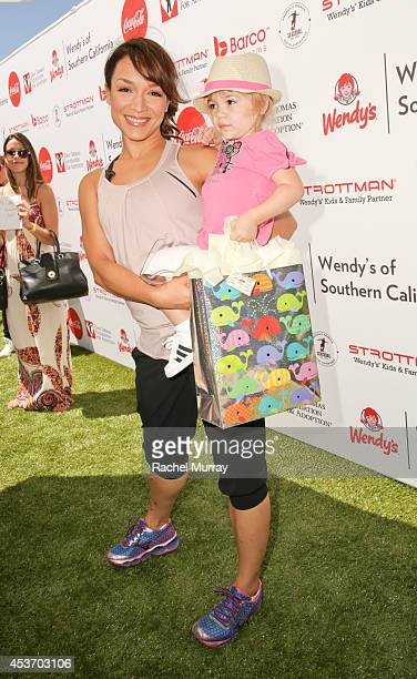 Mayte Garcia and her daughter Gia attend Kickball For A Home Celebrity Challenge Presented By Dave Thomas Foundation For Adoption at the University...