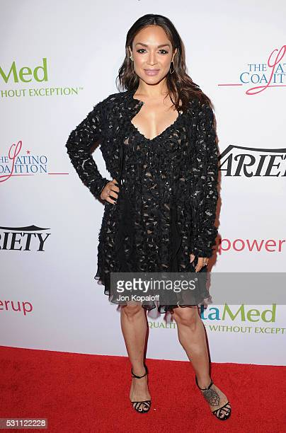 Mayte Garcia arrives at AltaMed Health Services' Power Up We Are The Future Gala at the Beverly Wilshire Four Seasons Hotel on May 12 2016 in Beverly...
