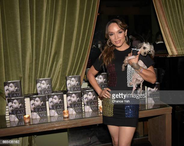 Mayte Garcia attends 'The Most Beautiful My Life With Prince' by Mayte Garcia private book launch party at Soho Grand Hotel on April 5 2017 in New...
