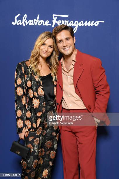 Mayte Rodriguez and Diego Boneta attends the Salvatore Ferragamo show during Pitti Immagine Uomo 96 on June 11, 2019 in Florence, Italy.