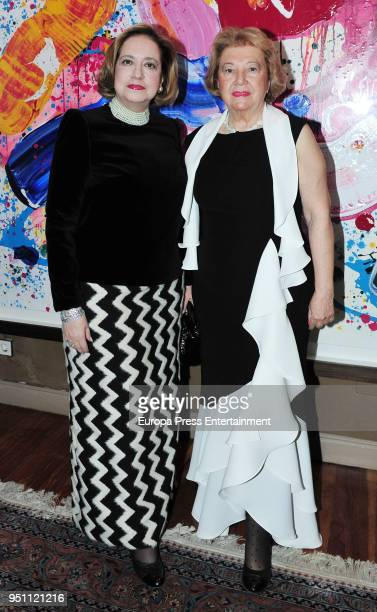 Mayte Spinola and Mercedes Baptista Guerra attend the 2017 Mayte Spinola Golden Medals Award on February 27 2018 in Madrid Spain