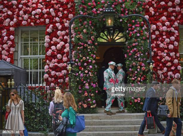 maytime in mayfair - flower show stock photos and pictures