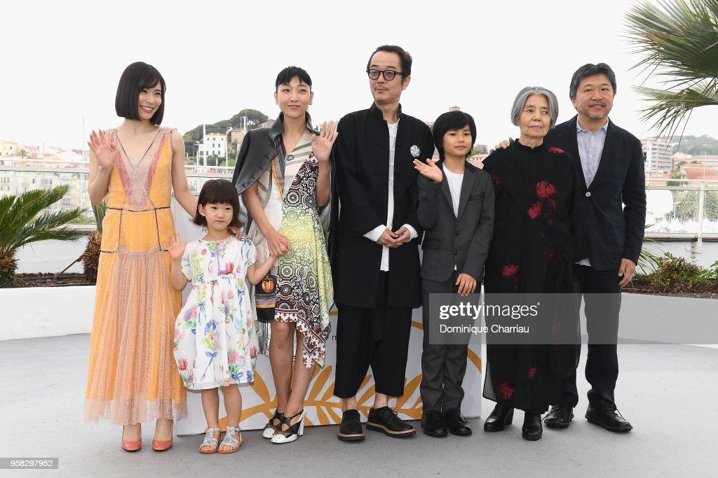 """Shoplifters (Manbiki Kazoku)"" Photocall - The 71st Annual Cannes Film Festival : News Photo"