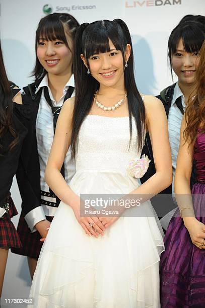 Mayu Watanabe of AKB48 during the MTV Video Music Aid Japan at Makuhari Messe on June 25, 2011 in Chiba, Japan.