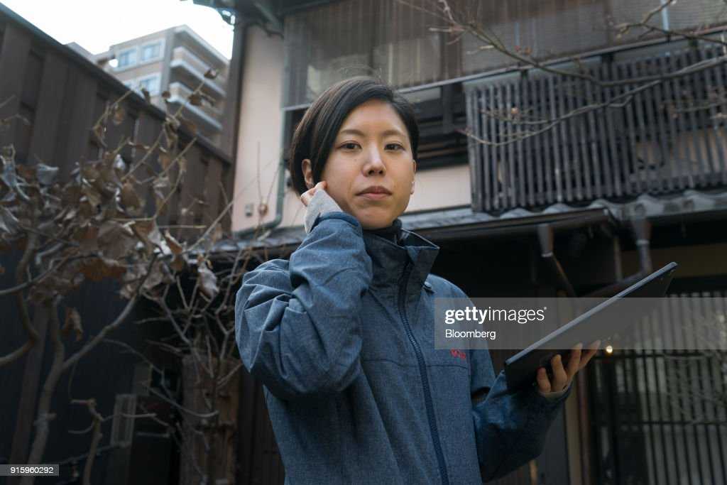 Mayuko Uemura, game designer of Hit-Point Co., poses for a photograph in Kyoto, Japan, on Monday, Jan. 29, 2018. Tabi Kaeru, or Travel Frog, became the No. 1 downloaded smartphone app in China for almost two weeks after its debut, and is still hovering at the top of the charts in China, Hong Kong, Taiwan, Singapore, Malaysia and Japan. The idea for the game came from Uemura, who has never written a line of computer code. Photographer: Kentaro Takahashi/Bloomberg via Getty Images
