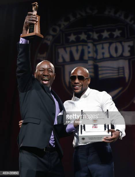 Mayweather Gym trainer and operator and former boxer Cornelius BozaEdwards is inducted into the Nevada Boxing Hall of Fame by WBC/WBA welterweight...