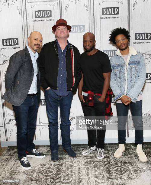 """Maz Jobrani, David Koechner, Rell Battle and Jermaine Fowler discuss """"Superior Donuts"""" at Build Studio on October 26, 2017 in New York City."""