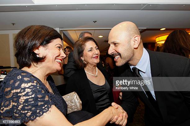 Maz Jobrani greets guests at the PARS Equality Center 4th Annual Nowruz Gala at Marriott Waterfront Burlingame Hotel on March 8 2014 in Burlingame...