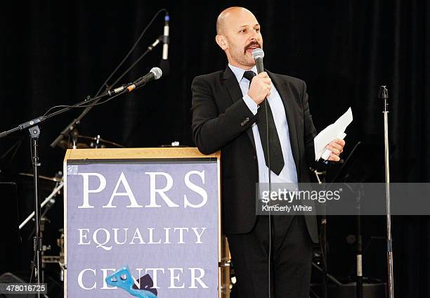 Maz Jobrani speaks at the PARS Equality Center 4th Annual Nowruz Gala at Marriott Waterfront Burlingame Hotel on March 8 2014 in Burlingame California