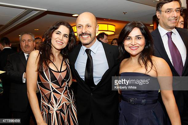 Maz Jobrani stands wit guests at the PARS Equality Center 4th Annual Nowruz Gala at Marriott Waterfront Burlingame Hotel on March 8 2014 in...