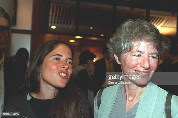 Mazarine and Anne Pingeot at the screening of the film 'Conversation avec un President'