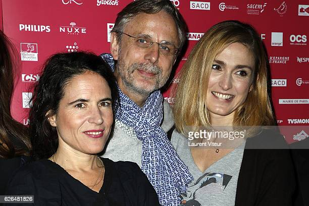 Mazarine Pingeot and Julie Gayet attend 'Courts Devants' Paris Festival at Mk2 Bibliotheque on November 29 2016 in Paris France