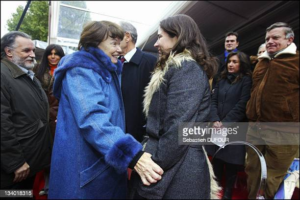 Mazarine Pingeot daughter of Francois Mitterrand and Danielle Mitterrand at the inaugural ceremony of the Quay Francois Mitterrand on October 26 in...