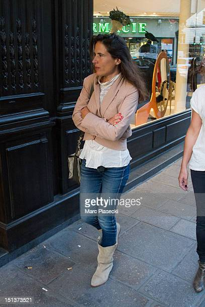 Mazarine Pingeot is seen during the Vogue Fashion Night Out on September 6 2012 in Paris France