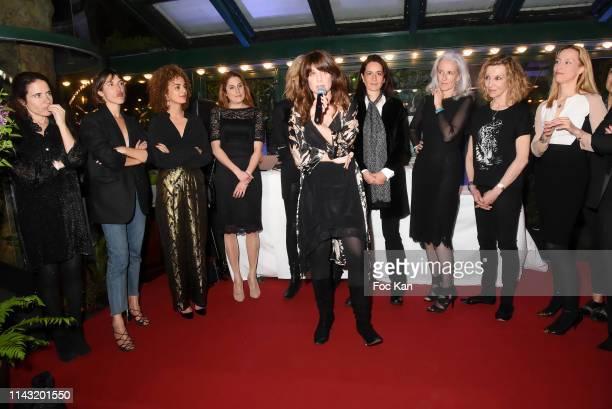 Mazarine Pingeot, Jeanne Damas, Leila Slimani, Jessica Nelson, Pauline Lefevre, 'Closerie des Lilas 2019' awarded writer Sarah Chiche for her book...