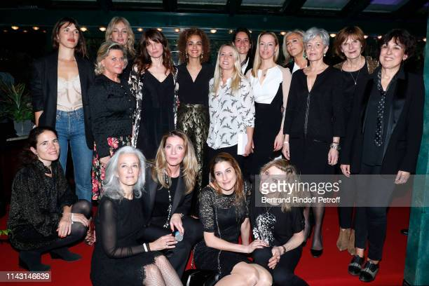 """Mazarine Pingeot, Jeanne Damas, Pauline Lefevre, Price of the """"Closerie des Lilas 2019"""" for """"Les entenebres"""", writer Sarah Chiche, President of the..."""