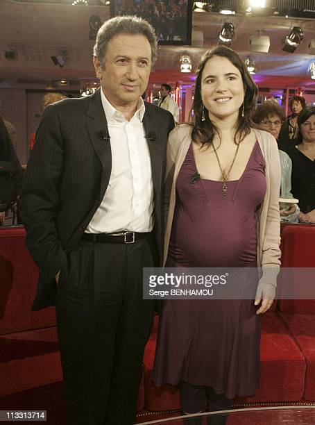 Mazarine Pingeot On Vivement Dimanche Tv Show On March 9Th 2005 In Paris France Michel Drucker And Mazarine Pingeot