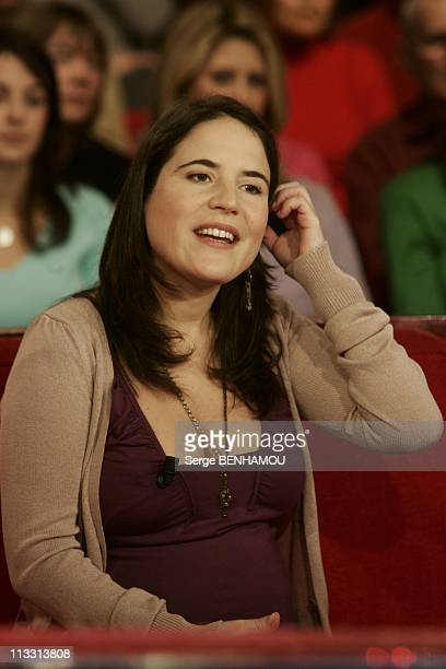 Mazarine Pingeot On Vivement Dimanche Tv Show On March 9Th 2005 In Paris France