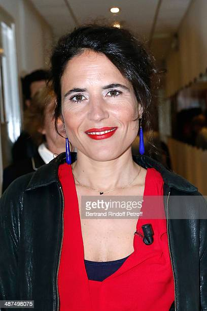 Mazarine Pingeot presents her book 'Les invasions quotidiennes' at the 'Vivement Dimanche' French TV Show at Pavillon Gabriel on April 30 2014 in...
