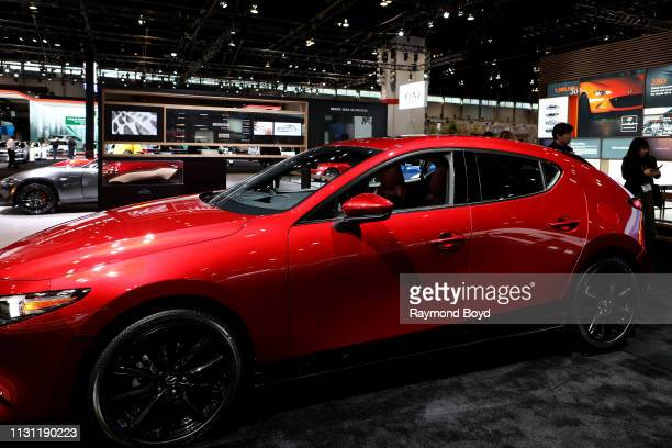 Mazda 3 is on display at the 111th Annual Chicago Auto Show at McCormick Place in Chicago Illinois on February 8 2019