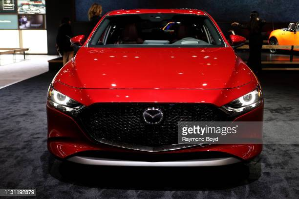 Mazda 3 is on display at the 111th Annual Chicago Auto Show at McCormick Place in Chicago, Illinois on February 8, 2019.