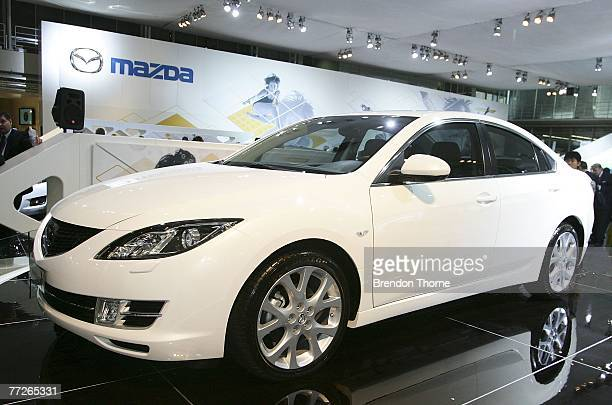 Mazda 6 is displayed at the 2007 Australian International Motor Show at the Sydney Convention and Exhibition Centre on October 11 2007 in Sydney...