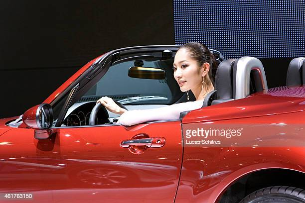 Mazda automaker displays its MX5 car on April 20 2009 in Shanghai China Shanghai auto show opened Monday for the press and will be open April 2428...