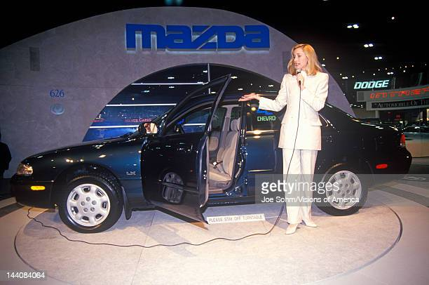 Mazda car being shown at the Los Angeles Auto Show at the Los Angeles Convention Center, California
