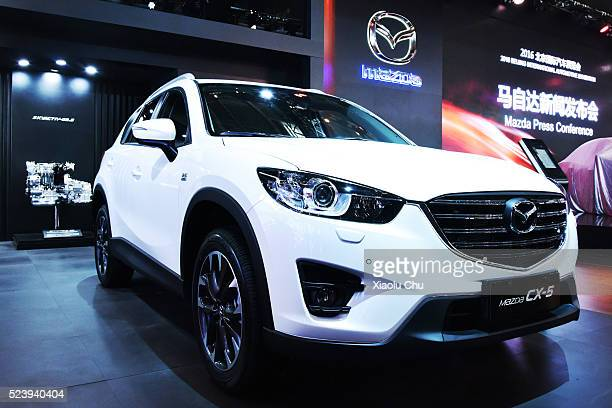 Mazda CX5 is displayed during the Beijing Motor Show Auto China on April 25 2016 in Beijing China Mazda Motor Co unveiled the Mazda CX4 the brand new...