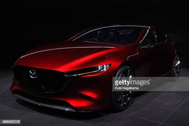 Mazda Kai Concept is displayed at the Mazda Motor Co booth during the Tokyo Motor Show at Tokyo Big Sight on October 25 2017 in Tokyo Japan