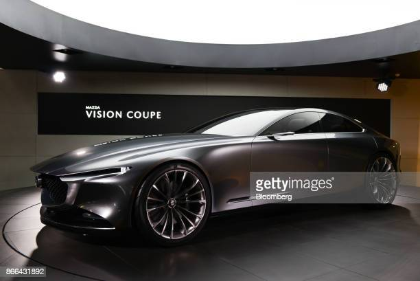 A Mazda Motor Corp Vision Coupe concept vehicle stands on display at the Tokyo Motor Show in Tokyo Japan on Wednesday Oct 25 2017 Japan's flagship...