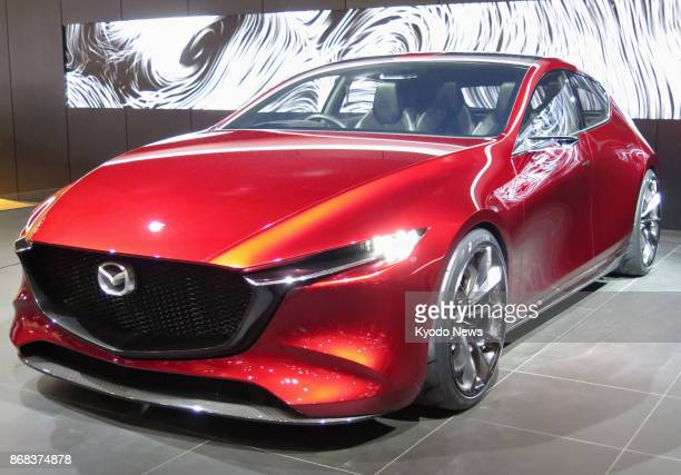 Mazda Motor Corp's KAI CONCEPT which uses the fuelefficient SYACTIVX gasoline engine is on display at the Tokyo Motor Show on Oct 28 2017 The 45th...