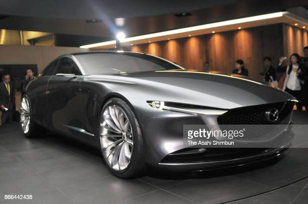 Mazda Motor Co's Vision Concept is displayed during the 45th Tokyo Motor Show at Tokyo Big Sight on October 25 2017 in Tokyo Japan The auto show...
