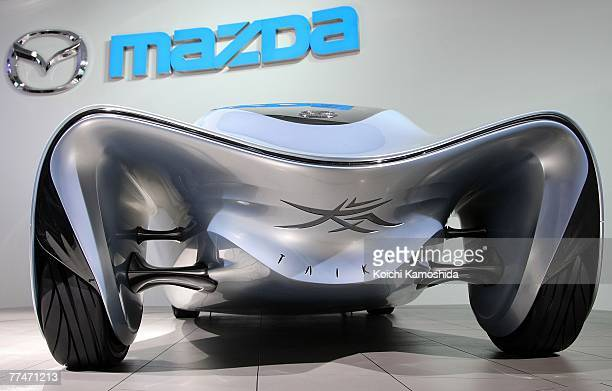 Mazda Motor introduces the company's new concept vehicle, Taiki during the press day of the 40th Tokyo Motor Show at Makuhari Messe, on October 24,...