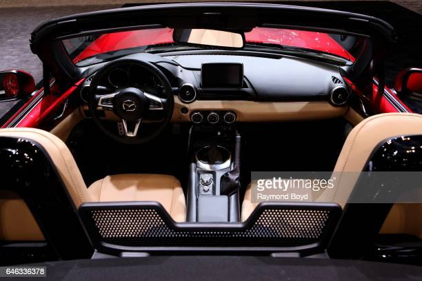 Mazda MX 5 interior is on display at the 109th Annual Chicago Auto Show at McCormick Place in Chicago Illinois on February 10 2017