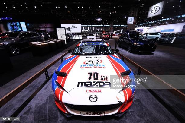Mazda MX5 is on display at the 109th Annual Chicago Auto Show at McCormick Place in Chicago Illionis USA on February 12 2017