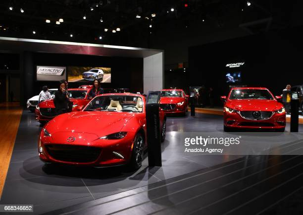 Mazda MX5 Miata is displayed at the New York International Auto Show in New York City United States on April 13 2017