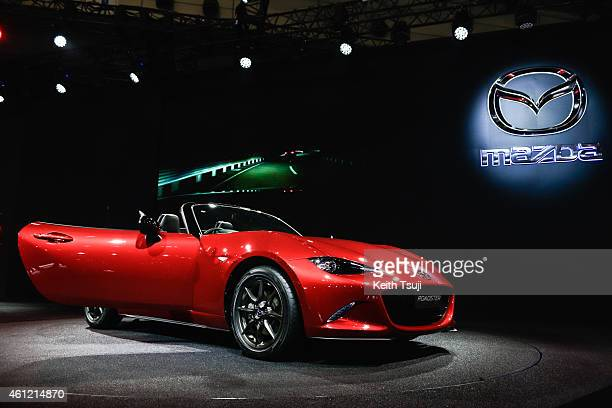Mazda Roadster is seen at the Tokyo Auto Salon 2015 at Makuhari Messe on January 9 2015 in Chiba Japan