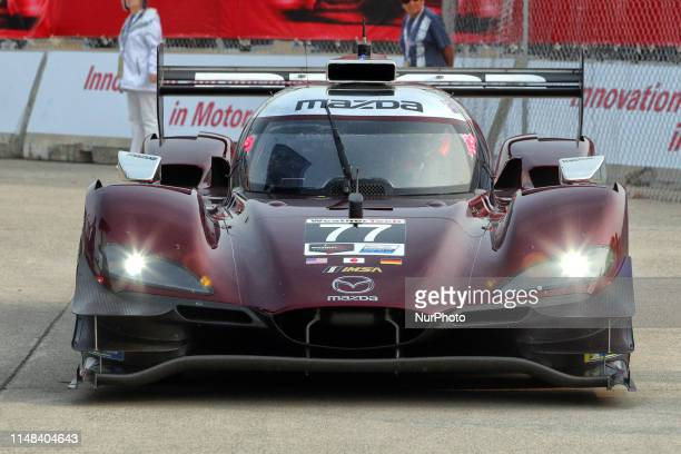 Mazda Team Joest drives to the paddock from the track during the Chevrolet Detroit Grand Prix presented by Lear on Belle Isle in Detroit, Michigan...