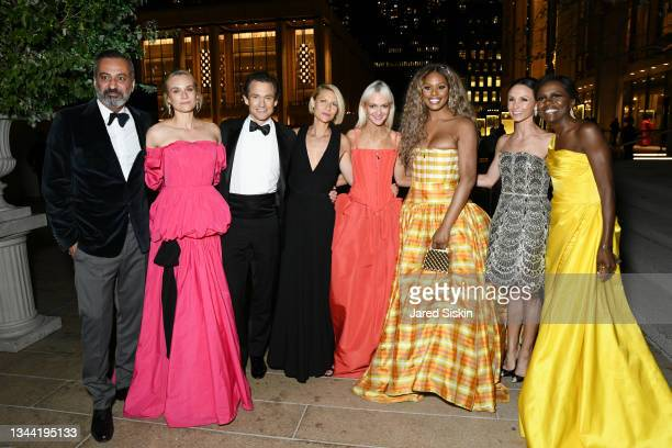 Mazdack Rassi, Diane Kruger, Hugh Dancy, Claire Danes, Zanna Roberts Rassi, Laverne Cox, Georgina Bloomberg and Deborah Roberts attend New York City...