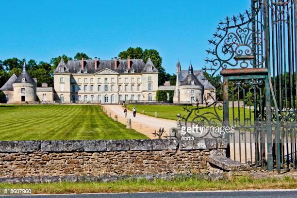 Maze : Chateau de Montgeoffroy, castle registered as a National Historic Landmark .