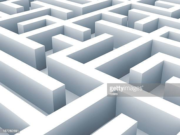 maze - labirynth. problem concept - maze stock photos and pictures