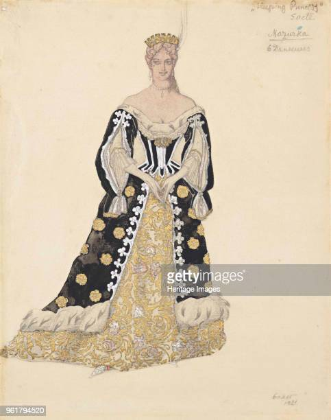 Mazurka dancer Costume design for the ballet Sleeping Beauty by P Tchaikovsky 1921 Private Collection