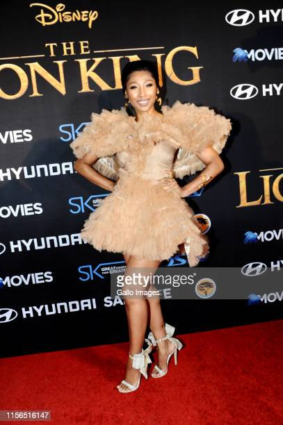 Mbali Enhle Mlotshwa Maphumulo during the official South African Premiere of Disney's The Lion King at the Johannesburg Country Club on July 18 2019...