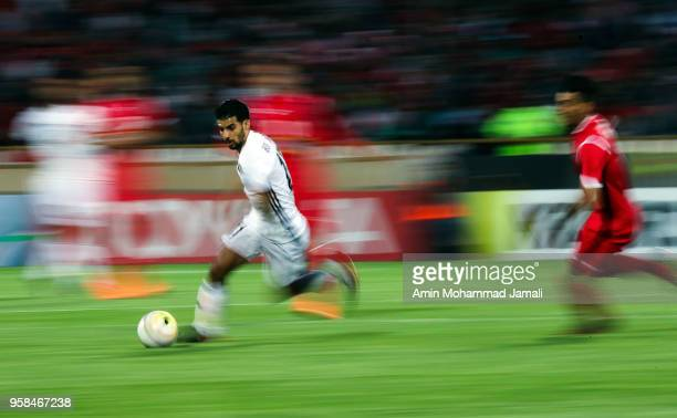 Mbark Boussoufa of Al Jazira in action during AFC Champions League match between Persepolis and Al Jazira at Azadi Stadium on May 14 2018 in Tehran...