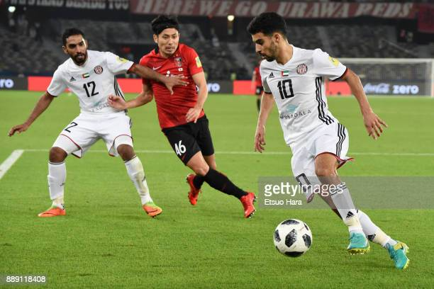 Mbark Boussoufa of Al Jazira in action during the FIFA Club World Cup match between Al Jazira and Urawa Red Diamonds at Zayed Sports City Stadium on...