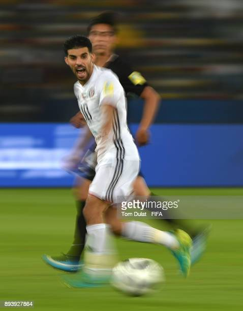 Mbark Boussoufa of Al Jazira in action during the FIFA Club World Cup UAE 2017 third place match between Al Jazira and CF Pachuca at Zayed Sports...