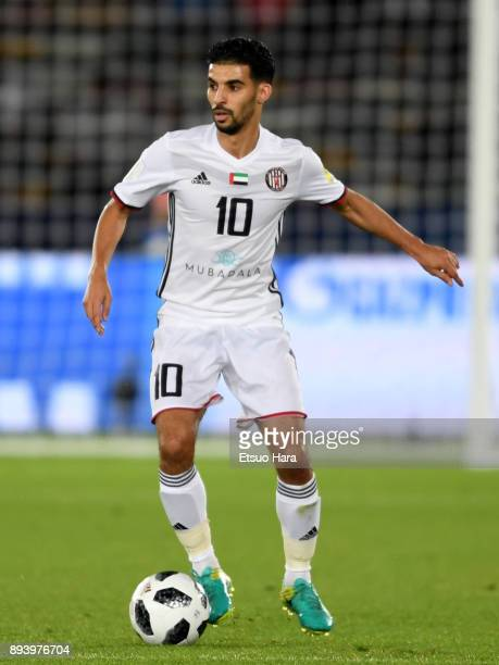 Mbark Boussoufa of Al Jazira in action during the FIFA Club World Cup UAE 2017 third place play off match between Al Jazira and CF Pachuca at the...