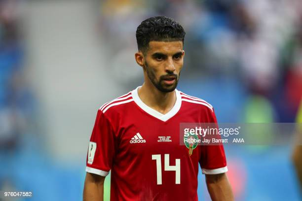 Mbark Boussoufa of Morocco during the 2018 FIFA World Cup Russia group B match between Morocco and Iran at Saint Petersburg Stadium on June 15 2018...